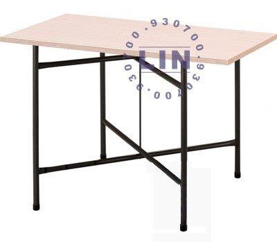 【品特優家具倉儲】R016-05餐桌剪刀腳方桌火鍋店用桌