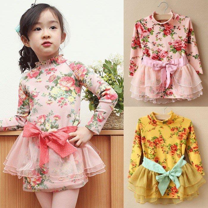韓版《花朵田園風》甜美長版上衣 洋裝 (J3-5)