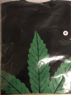 現貨 S號  vlone 420 大麻 大麻葉 綠 黑色 短Tee  女生可穿