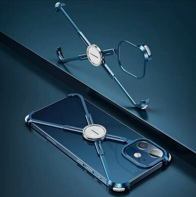 KINGCASE (現貨) iPhone 12 mini 5.4吋 送鋼化玻璃金屬鋁合金邊框指環手機套保護殼支架