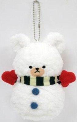 尼德斯Nydus~* 日本正版 小熊學校 傑琪 Jackie 娃娃 絨毛玩偶 白熊大衛 David 聖誕版雪人 15cm