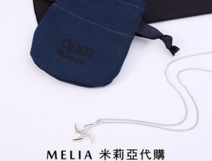 Melia 米莉亞代購 美國代買 APM MONACO18ss 7月新品 飾品 項鍊 度假風格 純銀微晶鑲鑽飛鏢項鍊