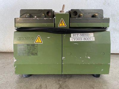 日本 ULVAC SINKU KIKO Diaphragm Dry Vacuum Pump DA-20D