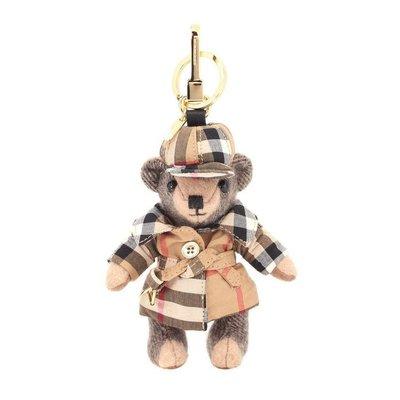 專櫃正品-NEW ARRIVAL BURBERRY Thomas Bear cashmere  風衣熊 吊飾