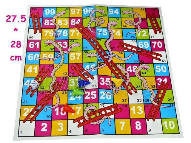 寶貝玩具屋二館☆【小教具】動動腦遊戲---趣味智力蛇棋遊戲組