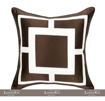 【 LondonEYE 】法夏系列 VERSAILES 新古典X大牌幾何X立體布繡純手工訂製抱枕套 豪宅(含芯-)咖
