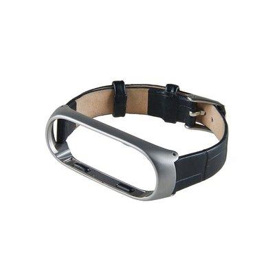 ?小米手環3/4?鱷魚紋真皮錶帶 MI3 (雅典黑)米蘭尼斯磁吸金屬腕帶