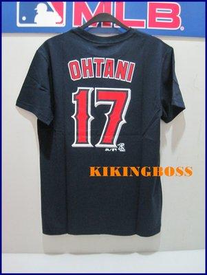 【喬治城】MLB美國大聯盟 天使隊 大谷翔平 Ohtani 號碼T 17號 深藍 6760217-580