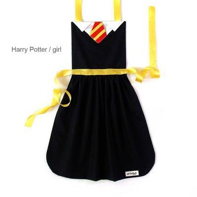 **party.at** 哈利波特 女孩 兒童圍裙 2-8Y 萬聖節服裝 聖誕節 蜘蛛人 蝙蝠俠 超人 美國隊長 鋼鐵人