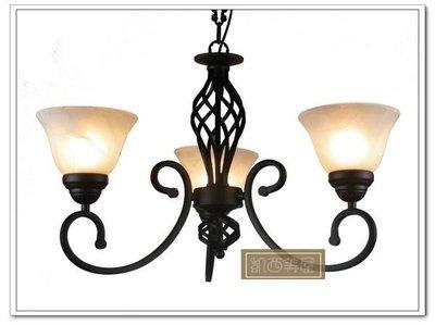 凱西美屋 美式鄉村風鳥籠鍛鐵3燈 三頭吊燈