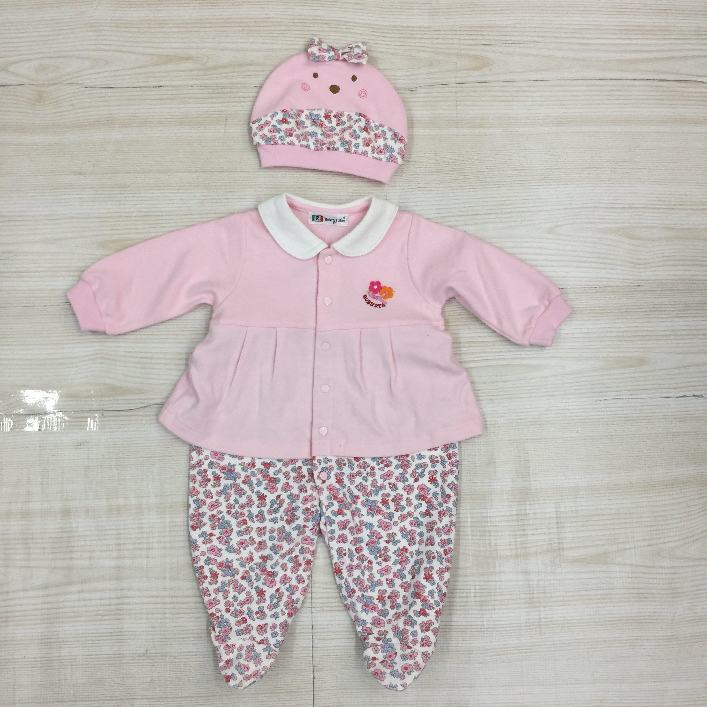 【愛莎&嵐】Roberta Colum 女嬰 粉色含帽連身裝 / 75~85公分 (全新) 1090916