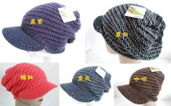 //阿寄帽舖//  #1110雙層毛線立體斜紋 貝蕾帽 阿哥哥帽~~絨毛內裡,輕柔保暖!!