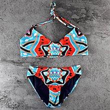 熱賣中新款 ebay 印花泳衣(無胸墊)清新藍色比基尼