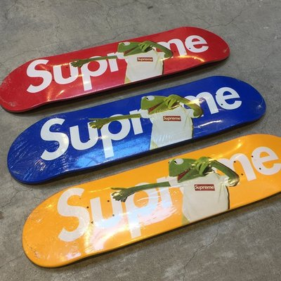 【車庫服飾】SUPREME KERMIT THE FROG DECK 2008 青蛙 三色一組 經典收藏滑板