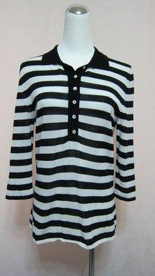 義大利名品-STRIKING-黑白海洋風橫條七分袖針衣..原價近兩萬.特價割愛..還有紅白喔~