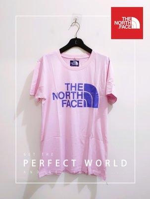 真品 日本製 全新有吊牌 美國知名戶外休閒品牌The North Face男女款 粉色酷涼乾爽T恤-L