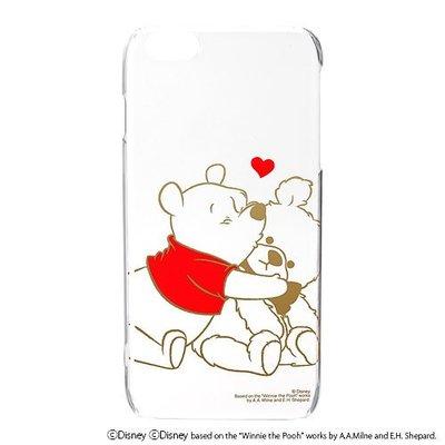 尼德斯Nydus~* 日本正版 迪士尼 小熊維尼 Pooh 透明硬殼 手機殼 5.5吋 iPhone6+ Plus