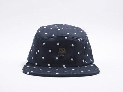 【紐約范特西】現貨 2013 最新 Stussy DELUXE POLKA DOT 5 PANEL BALLCAP 棒球帽 五分帽 深藍 點點
