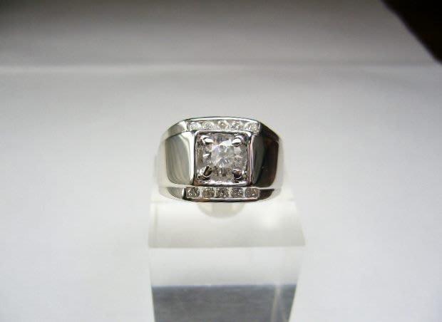 [吉宏精品交流中心]50分 南非天然鑽石 白K金 造型 戒指(男戒)(公關生日禮物)