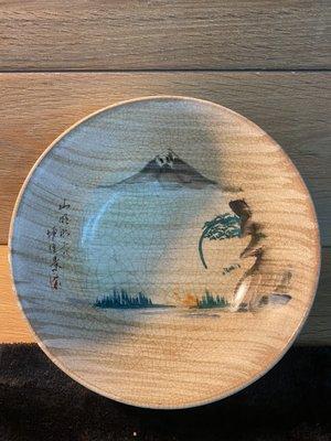 『華山堂』早期 罕見美品 日本時代 老台灣收藏 胭脂紅 大碗公 北投鶯歌燒