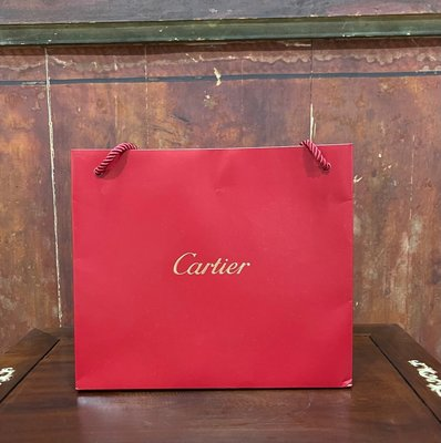 【二手名牌專櫃紙袋】Cartier 精品專櫃提袋 名牌紙袋 正品 飾品紙袋 禮物袋 新北市