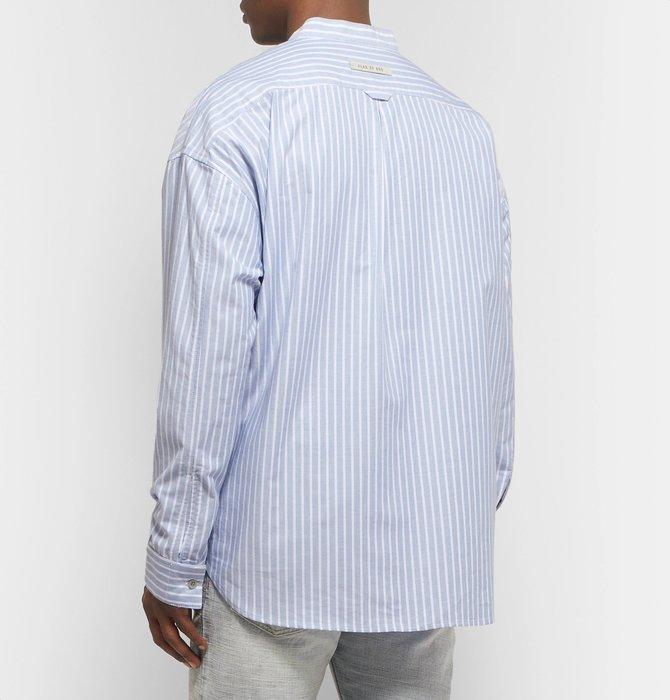全新商品 Fear Of Gof FOG 6TH Henley Shirt 條紋 長袖 襯衫