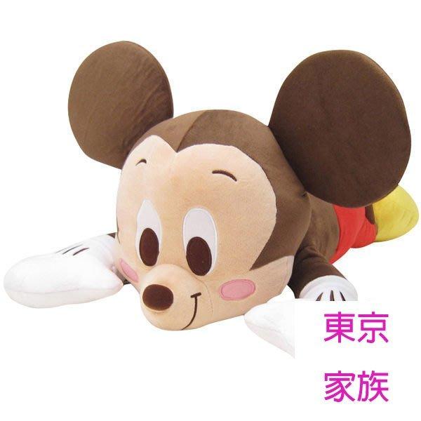 《東京家族》日本進口 迪士尼 micky 米奇 趴姿 造型 午安枕 午睡枕 抱枕 玩偶 娃娃~大