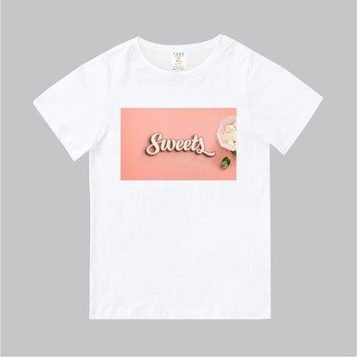 T365 MIT 親子裝 T恤 童裝 情侶裝 T-shirt 標語 話題 口號 美式風格 slogan Sweets
