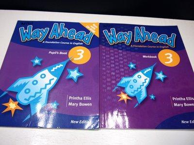 【考試院二手書】《Way Ahead Pupil's Book3+ Work book 3》││八成新(B11Z52)
