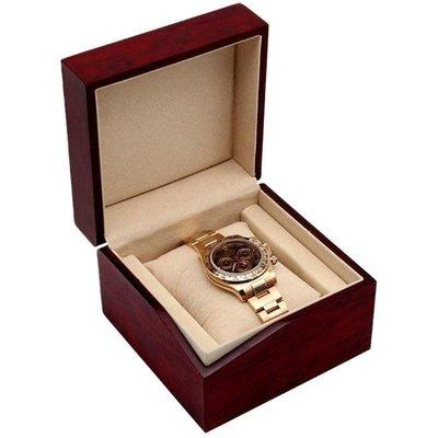 哆啦本鋪 別致設計手錶盒收納盒首飾收納盒木盒簡約錶箱手錶收藏 D655