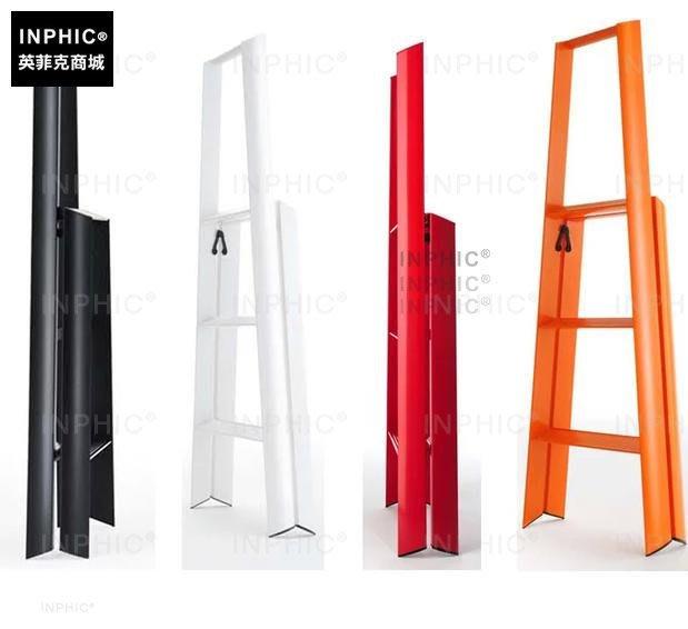 INPHIC-彩色家用梯子三步梯單側梯人字梯加粗梯梯_S00061C
