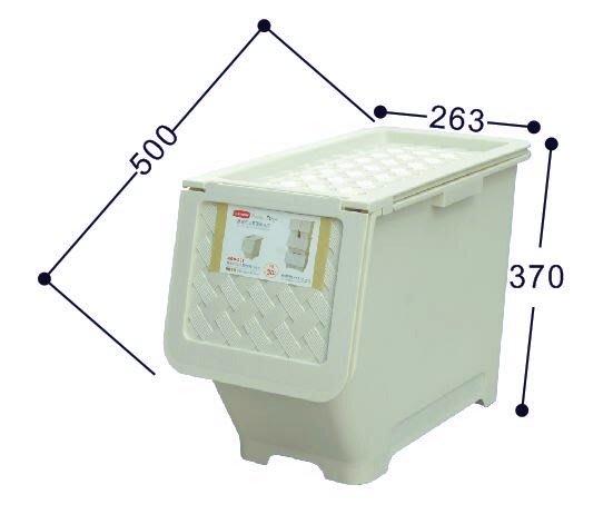 Sato/6入/免運/藤直取式30L整理箱米白/掀蓋整理箱/衣櫥收納/塑膠箱/直購價