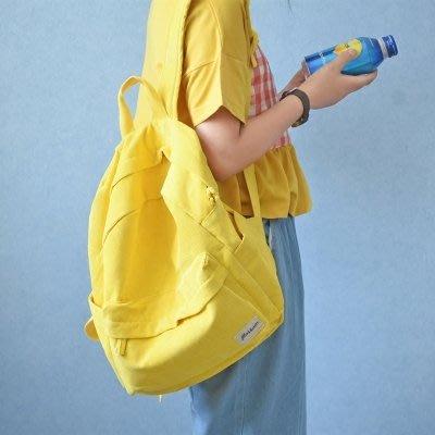 森繫文藝燈芯絨背包少女小清新雙肩包女生可愛萌高中學生書包