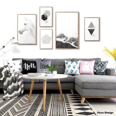 歐美風格 輕工業風 hello 雙面抱枕 Uluru Design 客廳 臥室 Loft 工業風 鄉村風 居家裝飾 飾品