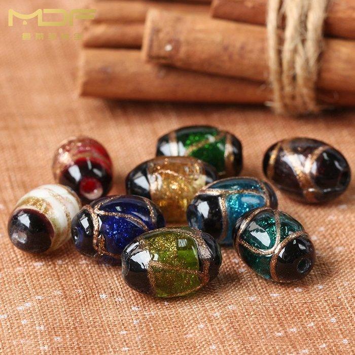 熱賣款--千花多彩金沙琉璃腰珠桶珠隔珠散珠子 DIY佛珠飾品配件#串珠用品#珠子#手工藝品#半成品