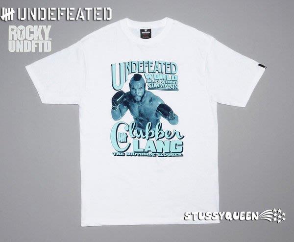 【 超搶手 】現貨 全新正品 2011 經典電影洛基聯名Undefeated X Rocky Clubber Lang Tee 白色 S M