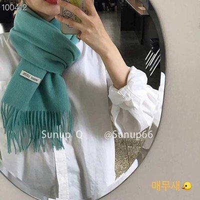 13C~Sunup_Q 韓國東大門 現貨 100wool羊毛純色流蘇經典圍巾多色11-12