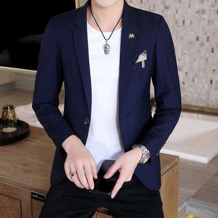 拉風閣 秋季男士休閑西裝 韓版修身新款小西服 時尚單西上衣外套 2020