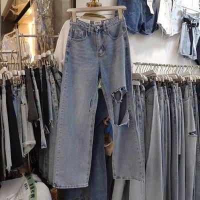 :Bumpy: 韓國進口牛仔長褲,一色