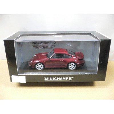 MINICHAMPS 1/43 PORSCHE 911 TURBO 1995 RED METALLIC (430 069208) (05531) (PIU97)