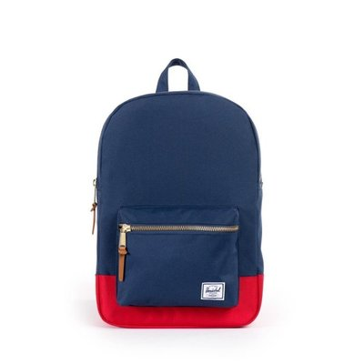 Herschel Supply Co. Settlement Backpack 金拉鏈 後背包 藍紅拼色 大款21L