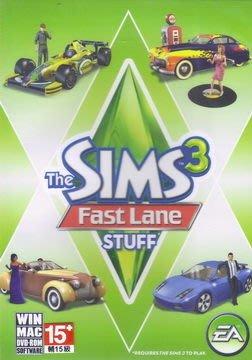 [比數位版還便宜] PC GAME EA模擬市民3 慾望街車組合 THE SIMS 3 Fast Lane stuff