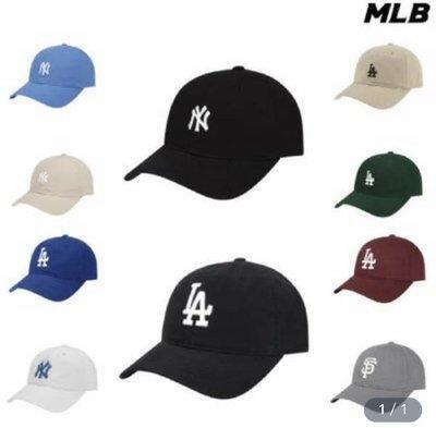 🇰🇷✈️韓國代購正品{現貨+預購}「MLB」洋基 NY LA 小字母標誌 DODGERS 棒球帽 32CP77011
