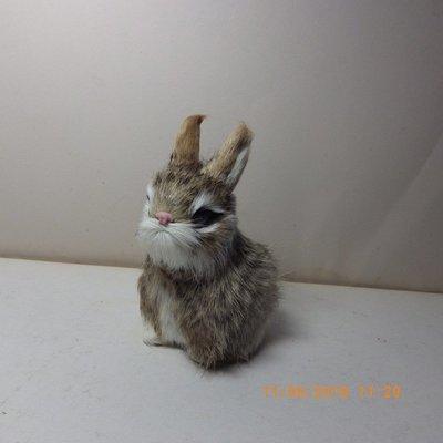 紫晶宮***單隻兔子高11.5cm灰花色***品質保證價格便宜