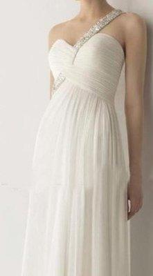 新款歐美雪紡禮服高檔單肩長款顯瘦晚禮服新娘敬酒服晚宴年會主持