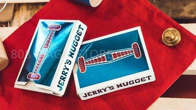 [808 MAGIC]魔術道具 Jerry's Nugget Playing Card 複刻 金屬藍 超美金屬光