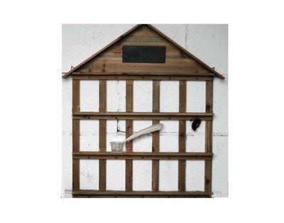 ~誠萍生活家具~鄉村 ZAKKA 實木屋型木架 收納架 壁架 造型木架 15格壁掛收納櫃  ~直購價$570