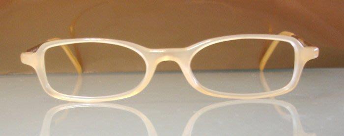 (雅痞款)義大利PRADA 中性 膠框+細金邊架 側面Logo度數片兩用高級鏡架(絕版真品)13x 2.8 cm