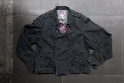 PRPS 紫製品 髒汙破壞水洗 雙排釦 騎士外套 L號 全新品