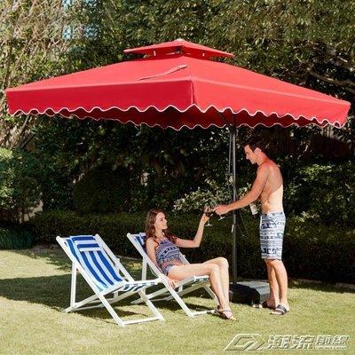 戶外遮陽傘戶外傘大型沙灘太陽傘擺攤傘方...
